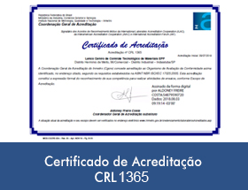 certificado de acreditacao cr1365